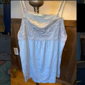 Baby blue lace camisole